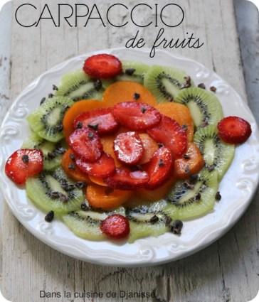 Carpaccio de fruits d'été