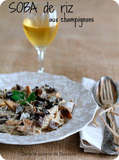 Soba de riz aux champignons