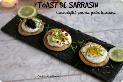 Vegan recipe : toast vegan caviar, apple... {gluten free}