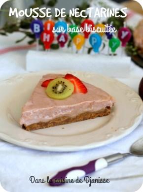 Recette végane sans gluten : cheesecake-like à la nectarine