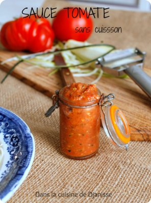 Sauce tomate sans cuisson (vegan raw food)