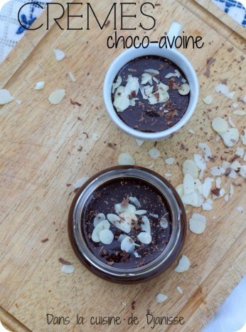 Crèmes chocolat-avoine vegan