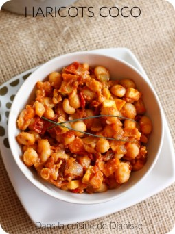 Recette végane : haricots coco tomate et curry