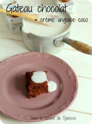 Recette végane sans gluten : gâteau au chocolat et crème anglaise à la noix de coco