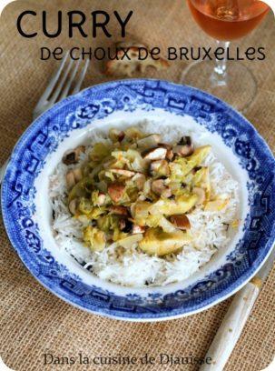Choux de Bruxelles en curry (vegan)