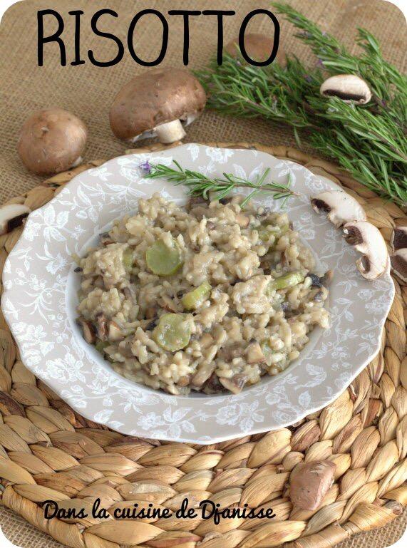 Risotto aux champignons et laitue asperge {recette végétalienne}