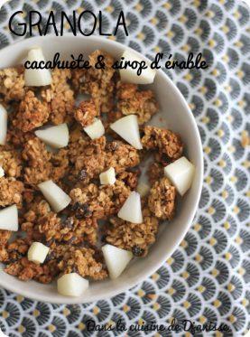 Granola au beurre de cacahuète et sirop d'érable