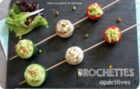 Brochettes apéritives