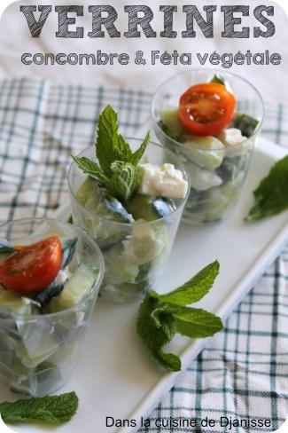Salade concombre et féta