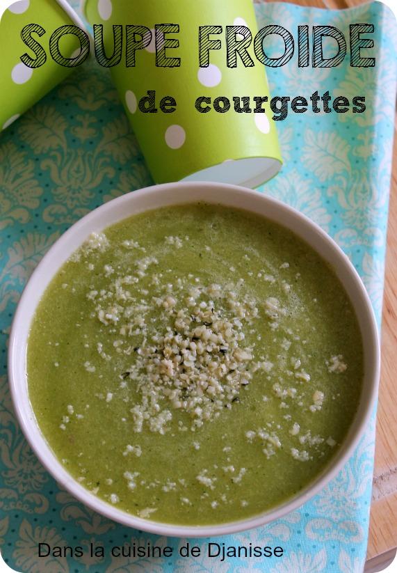 Soupe de courgettes, froide et crue {au Thermomix} - #Vegan