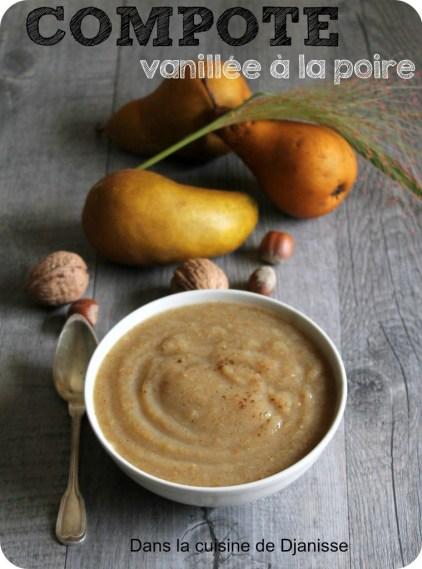 Compotée vanillée de poires