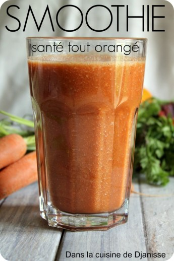 smoothie santé orangé