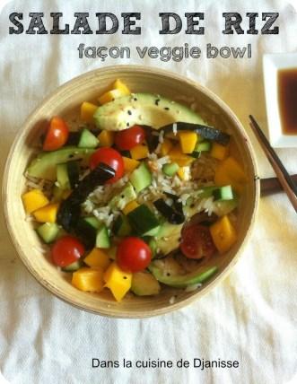 Salade de riz veggie bowl