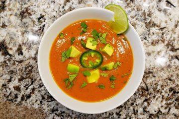 Butternut squash chili soup