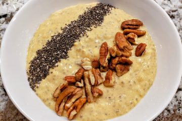 Pumpkin spice oat and chia pudding