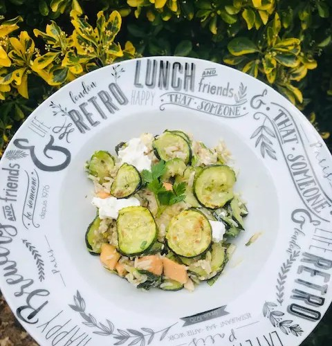 salade de courgettes rôties