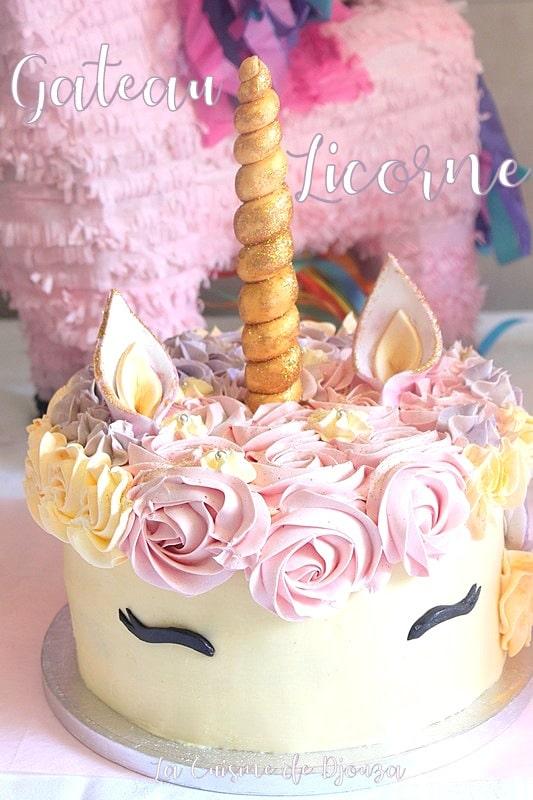 gateau licorne recette pour anniversaire