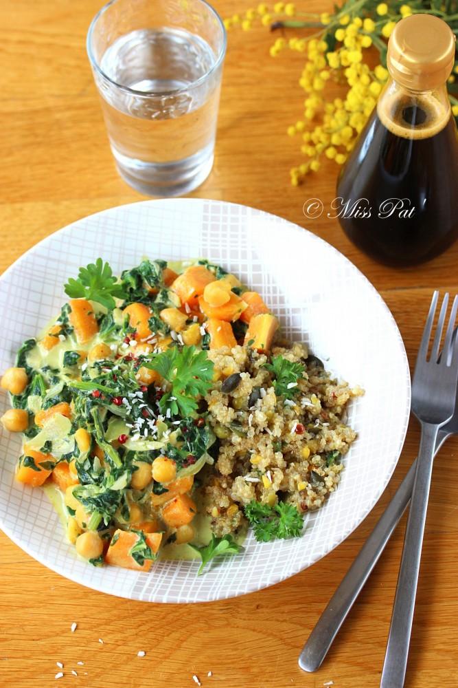 Curry quinoa et butternut misspat