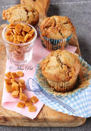 Muffins aux éclats de nougatine misspat