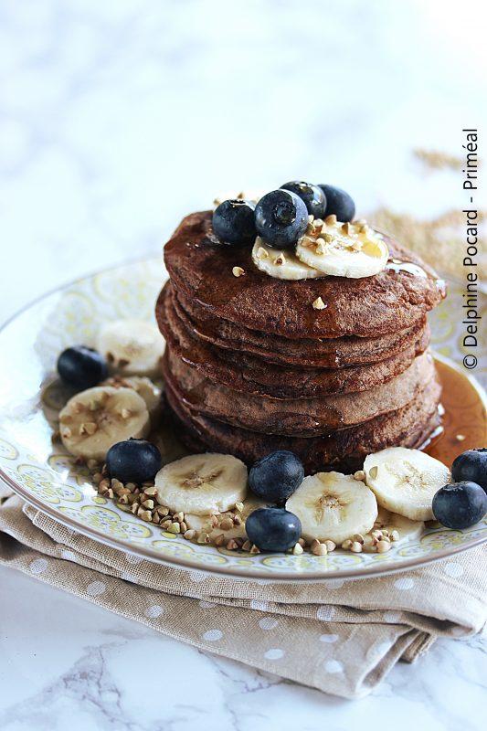 Pancakes cacao et sarrasin Priméal