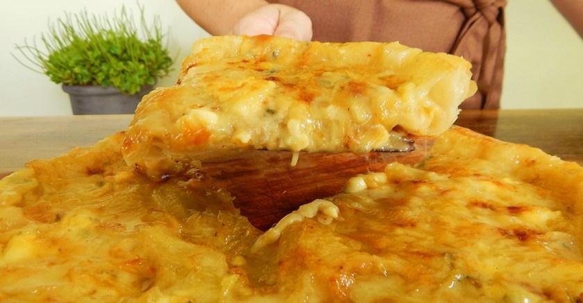tarta de queso azul cebolla roquefort