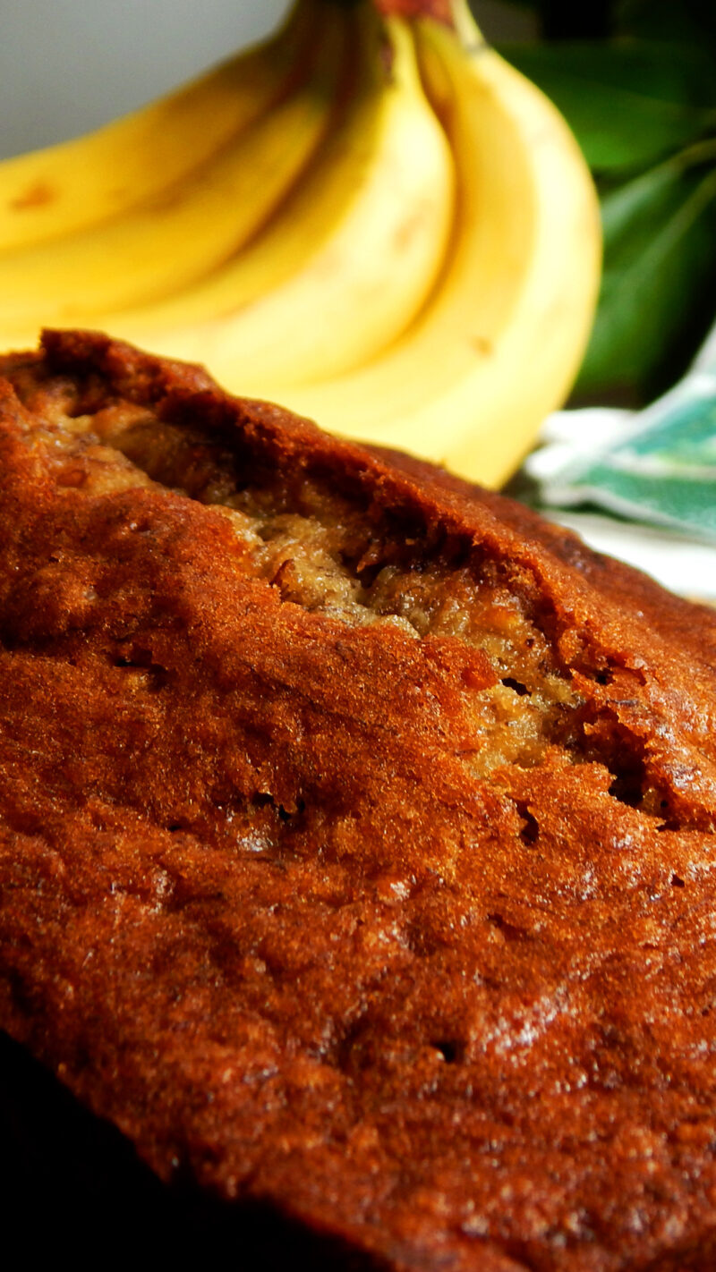 banana bread budin nueces