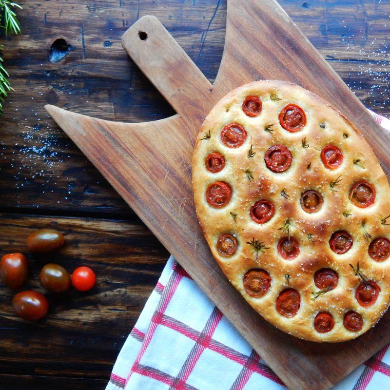focaccia tomate romero