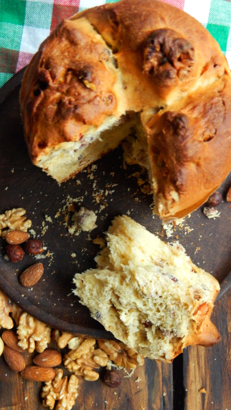 pan dulce panettone frutos secos