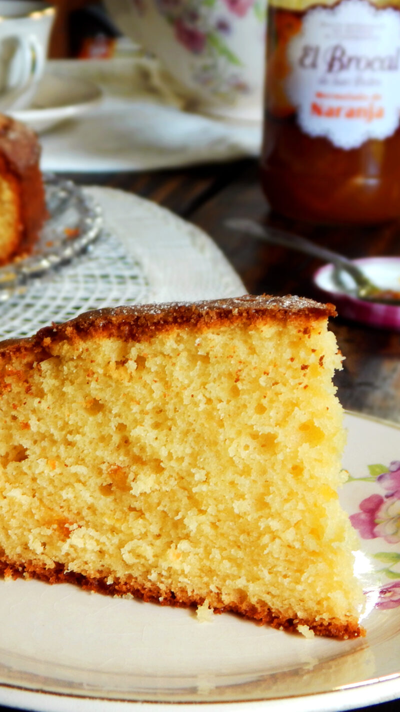 torta de naranja bizcochuelo bizcocho crema mermelada