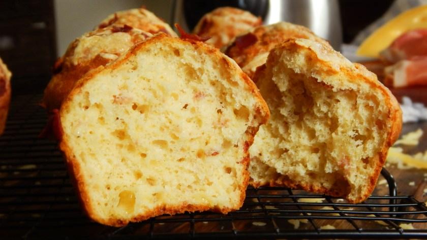 muffins salados jamon queso