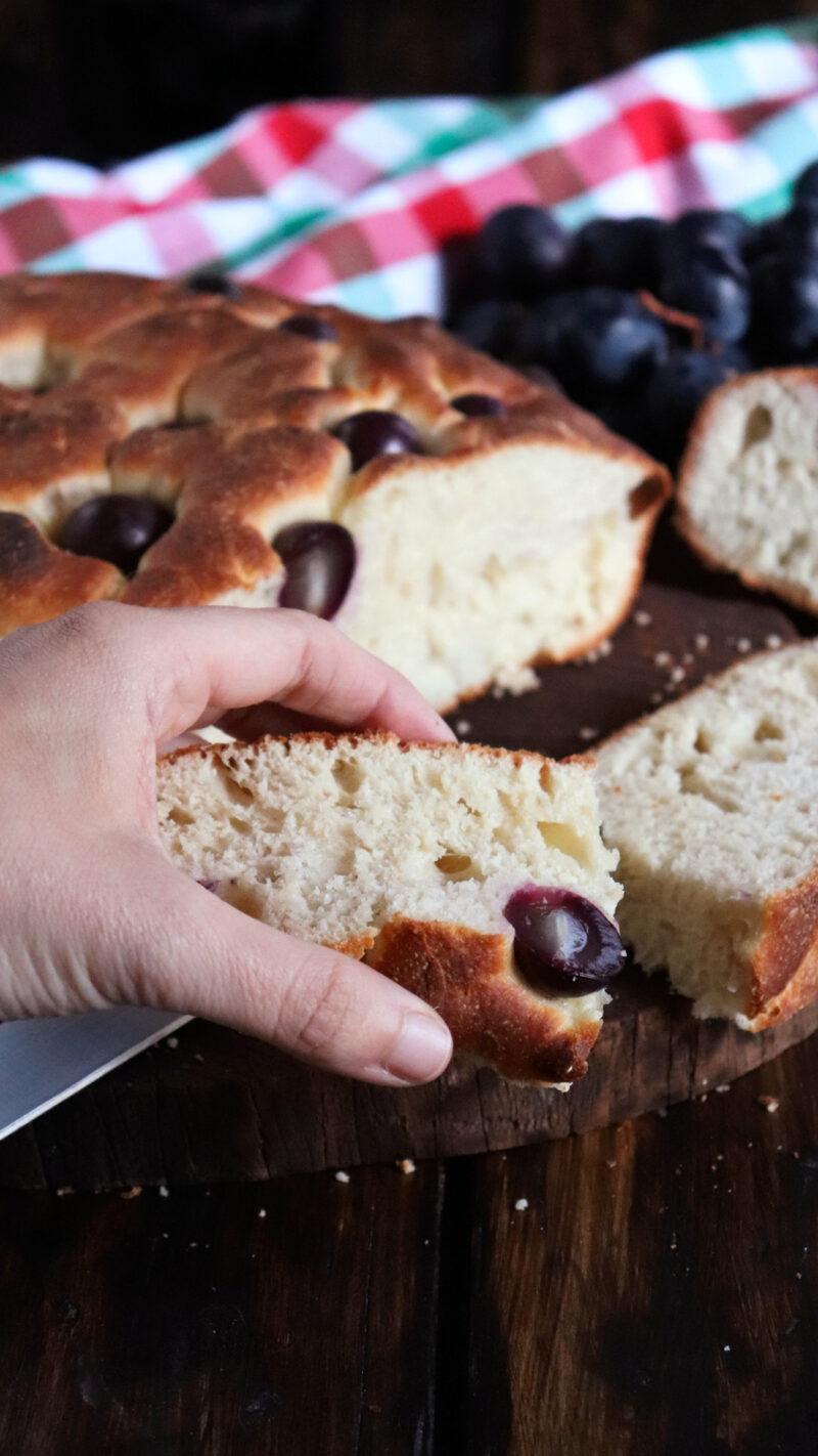 focaccia dolce dulce Schiacciata pan italiano