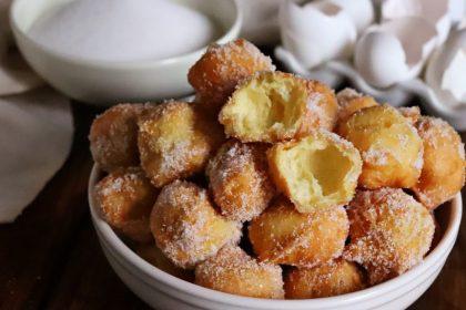 buñuelos de viento dulces fritos españoles