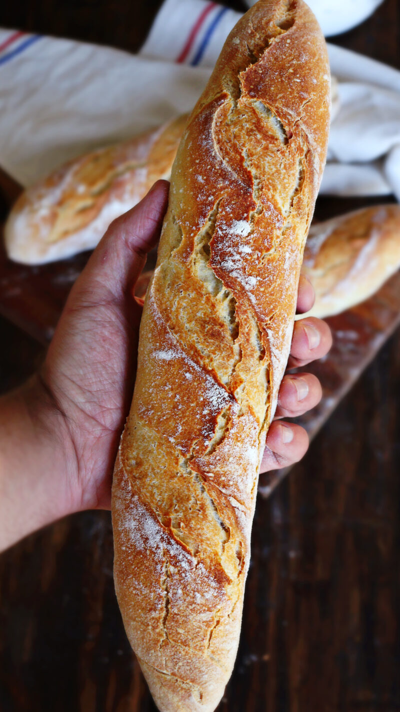 baguette casera corteza dorada rustica