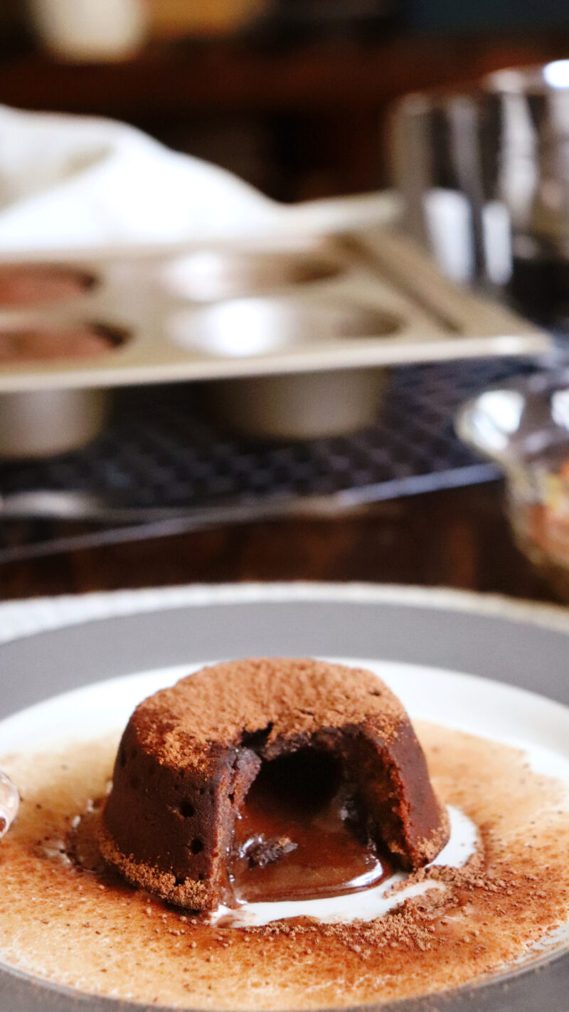 volcan de chocolate lava cake coulant