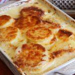 papas a la crema con queso