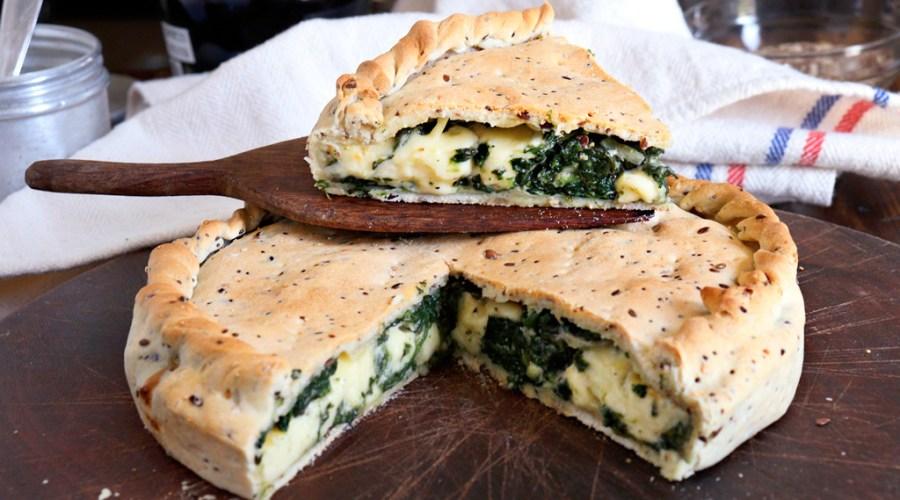 tarta de espinaca con queso masa casera