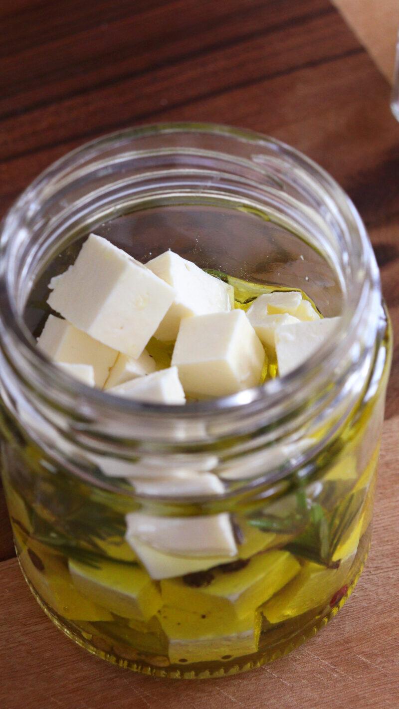 queso ena aceite marinado feta