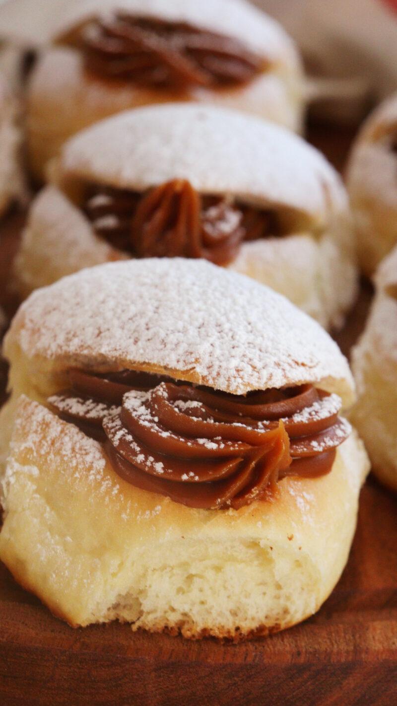 miguelitos pan de leche facturas argentinas dulce de leche