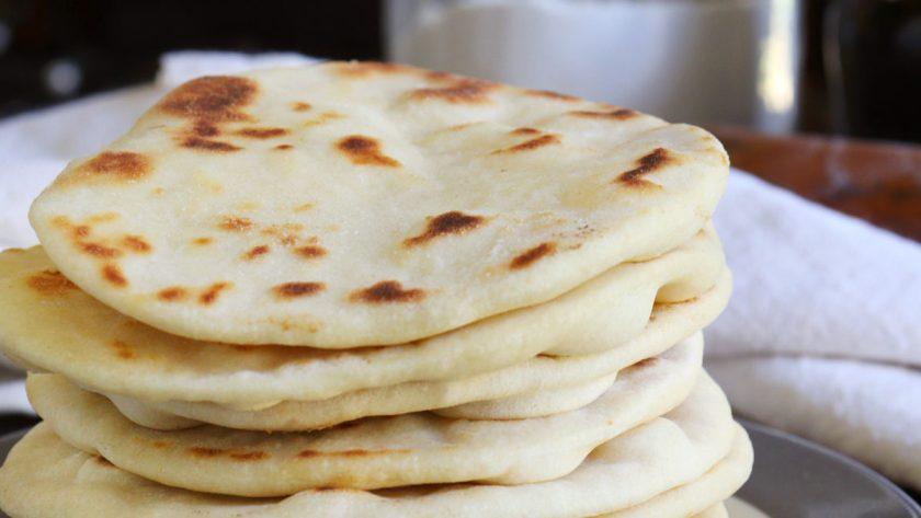 pan pita sin levadura sin horno