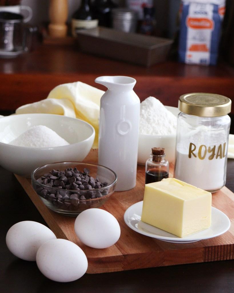 ingredientes budin chocolate
