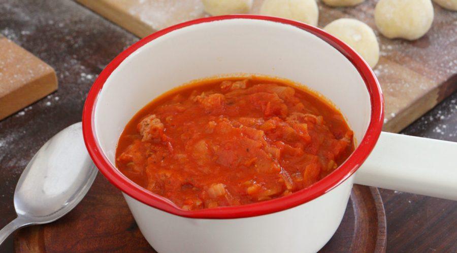 salsa con salchicha parrillera tuco
