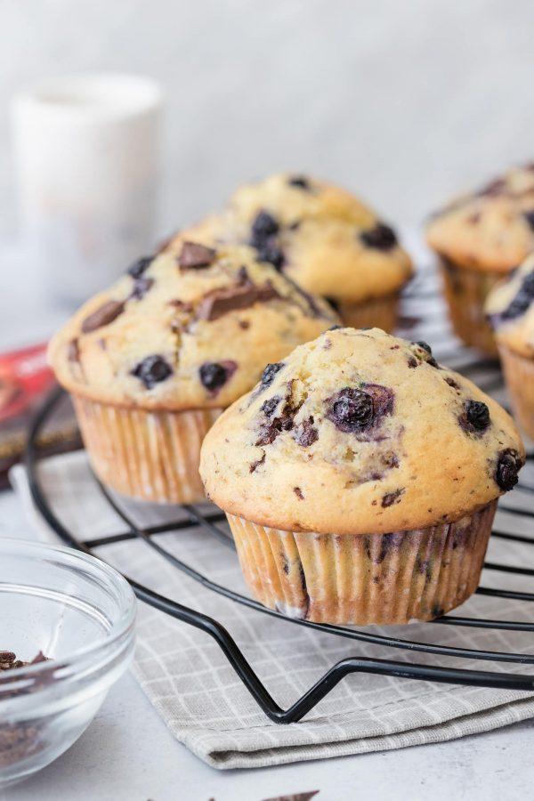 Muffini s borovnicama i čokoladom