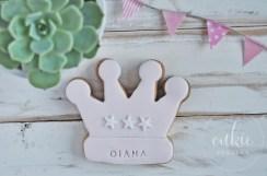 Galletas decoradas comuniones Corona de Princesa- Cukie Project