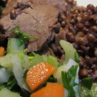 quarter of a cow: spring chuck pot roast with salade mirepoix