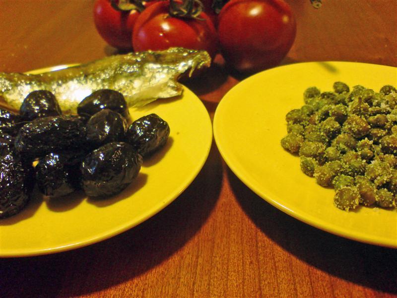 Puttanesca ingredients