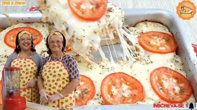Lanchão Pizza Recheada de Liquidificador Rápida e Fácil