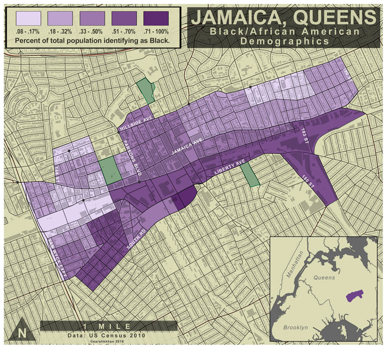 Map Jamaica Zip Code Queens