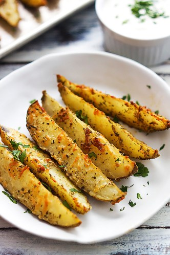 parmesan garlic potato wedges
