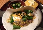 Green chili pork tacos
