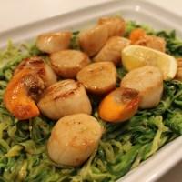Scallops with Lemony Zucchini Spaghetti